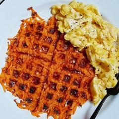 Waffle-Iron Sweet Potato Hash Browns